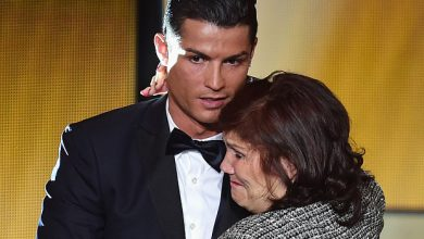 cr7 and his mother
